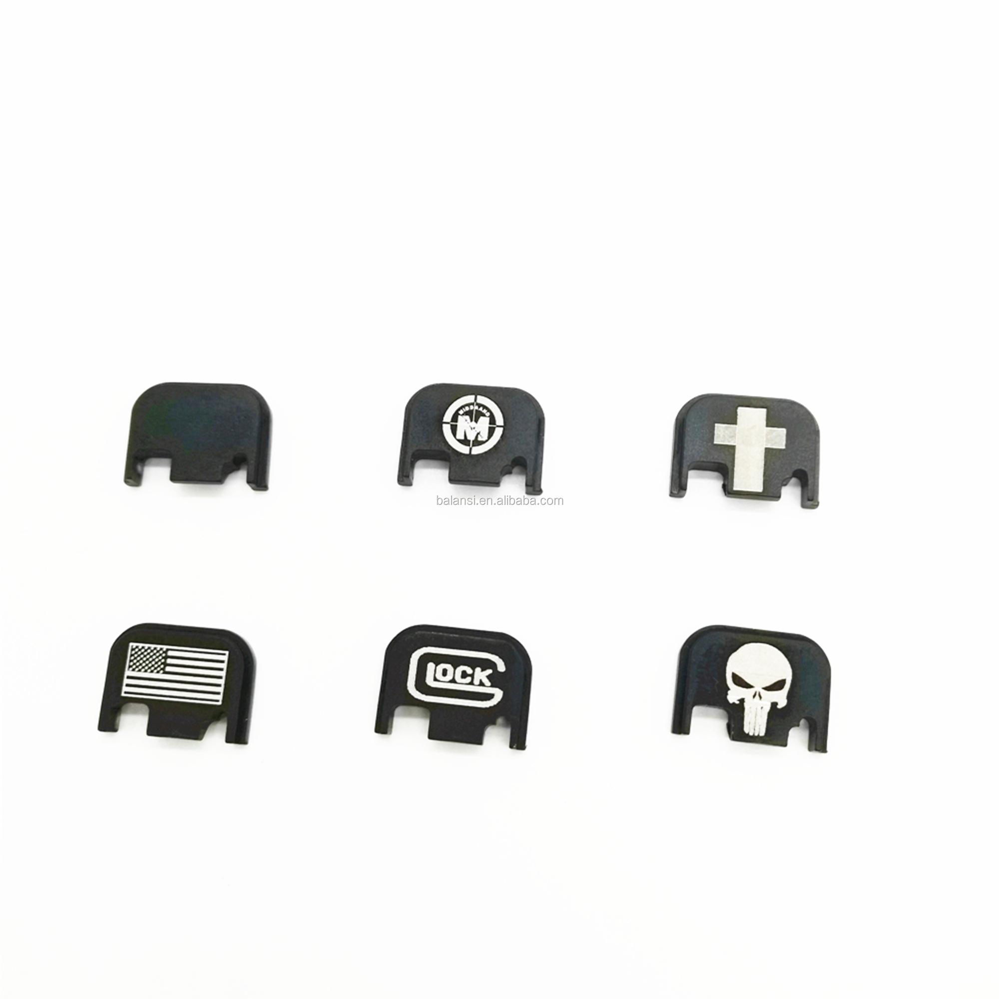 Aluminum glock Rear Cover Slide Back Plate Magwell for glock Gen 1-4  gen5 Glock 17 19 20 21 22 23 25 26 40 41