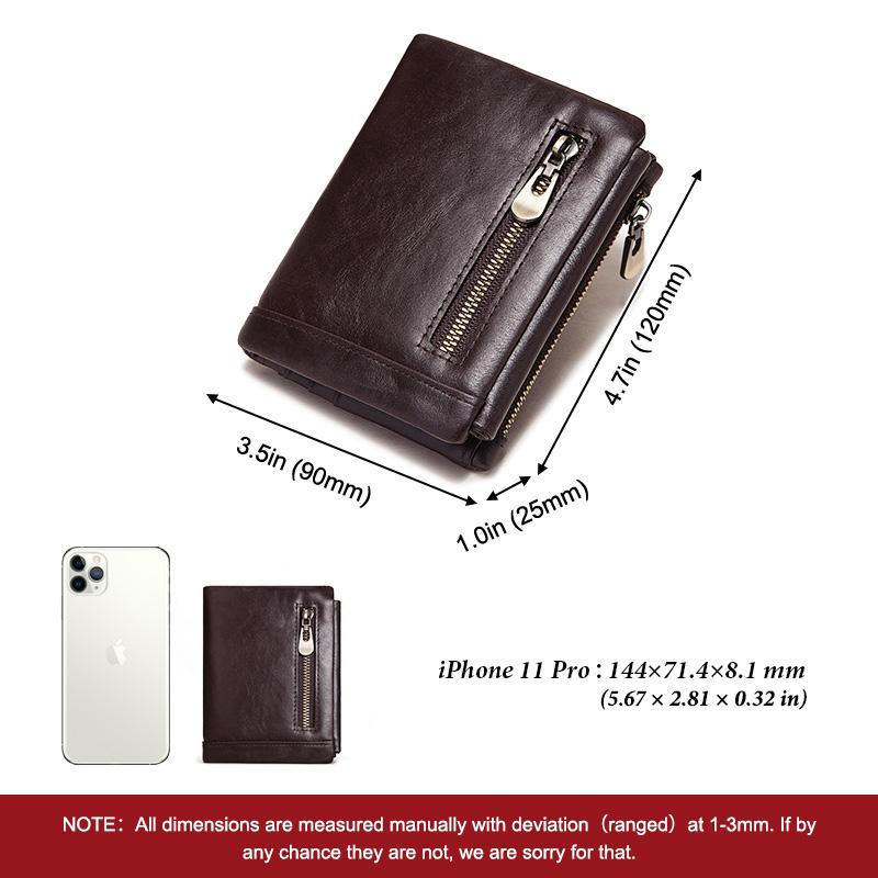 HUMERPAUL 2020 Man Wallet Wholesale Dropship Rfid Genuine Cow Leather Wallet Leisure Minimalist Three Fold Wallets Leather Men