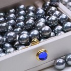 Black Pearls 8-9mm Black Tahiti Pearls Blue Round Shape Black Color DIY Seawater Bright Light Loose Pearls