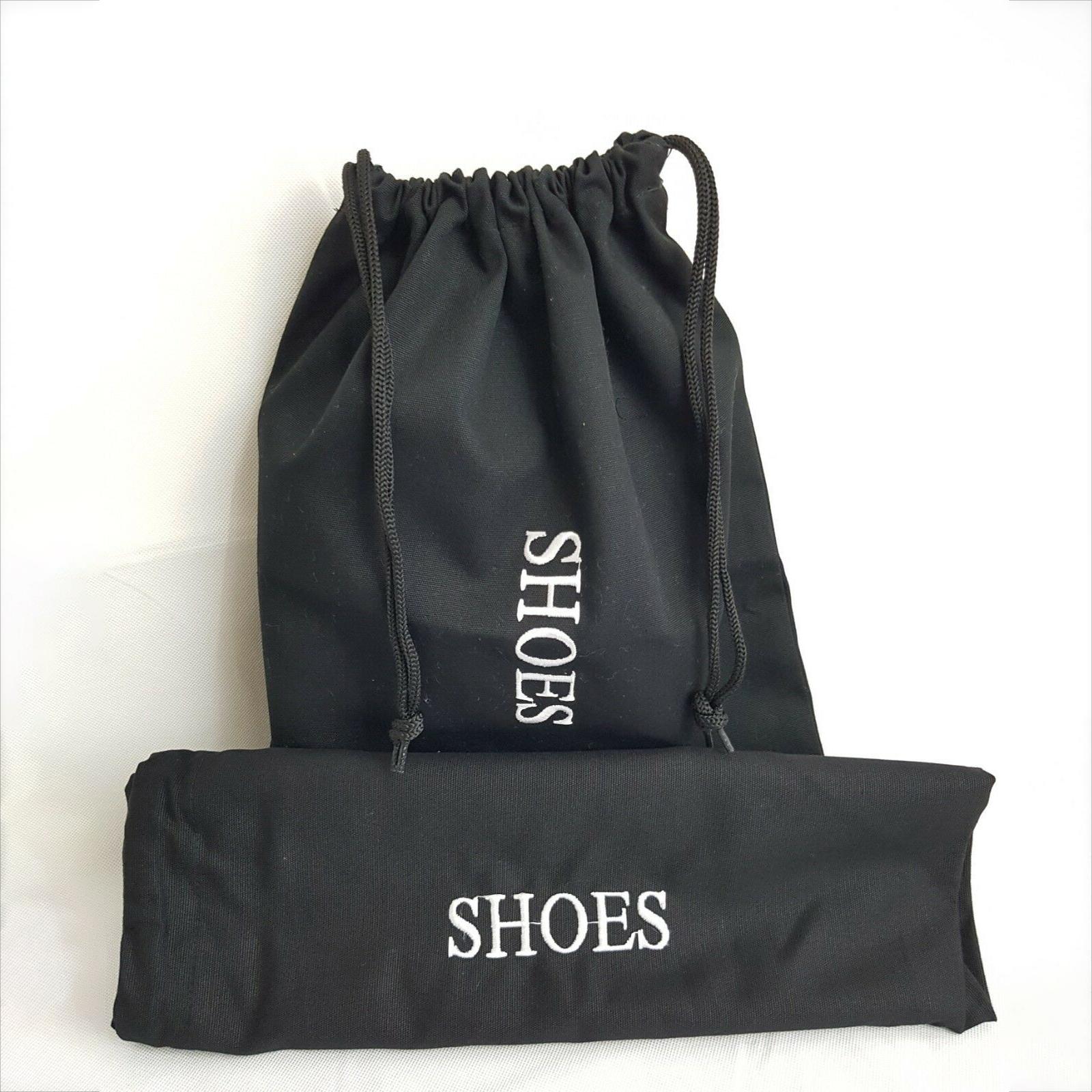 Индивидуальный черный хлопчатобумажный холщовый рекламный подарок для женщин на высоком каблуке Мужская сумка для хранения обуви на шнурке