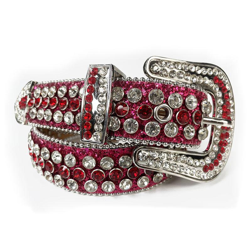sparkle western cowboy cow women jeans diamond studded men leather rhinestone designer belt