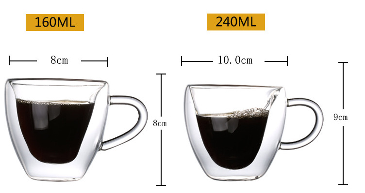 coffee Factory Direct Supply Recycled 160ml 240ml High Borosilicate Handmade Glass Water Cup For Home