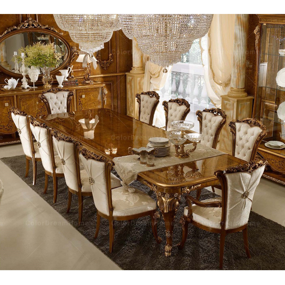 Royal Dining Room Antique Dining Table And Chairs Set 9 Seats ...