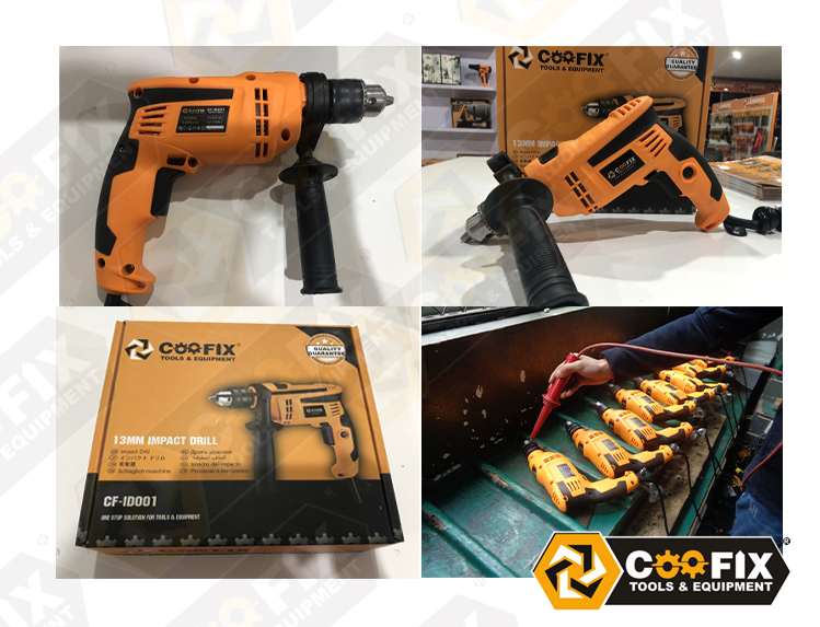 COOFIX 710W 13mm Impact Power Drilling Hand Electric Tools Cordless Drill Machine