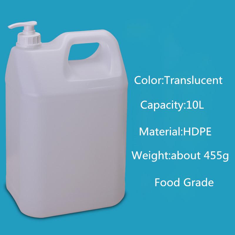 Горячая Распродажа, все виды размеров, HDPE, 1 л, 2 л, 4 л, 5 л, 10 л, пластиковая канистра с крышкой насоса для спирта