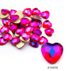 15# 6mm Faces Heart Red AB