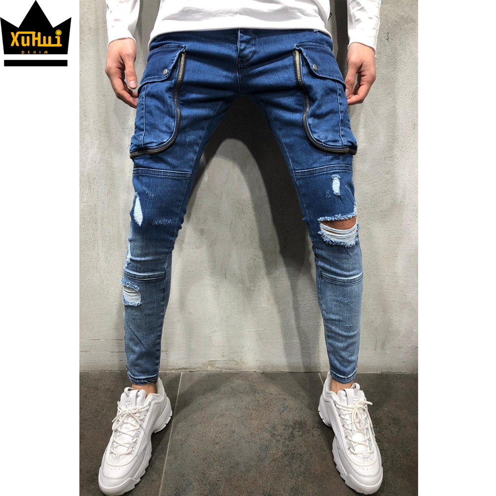 2020 Men S Skinny Jeans Homme With Cargo Pockets Premium Designer Pantalones Jeans Slim Fit Men Buy Jeans Slim Fit Men Pantalones Jeans Men Designer Jeans Product On Alibaba Com
