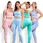 Sports 2021 New Wholesale Seamless Sports Wear Fitness Sets Clothing Yoga Women Workout Yoga Gym Clothes Set
