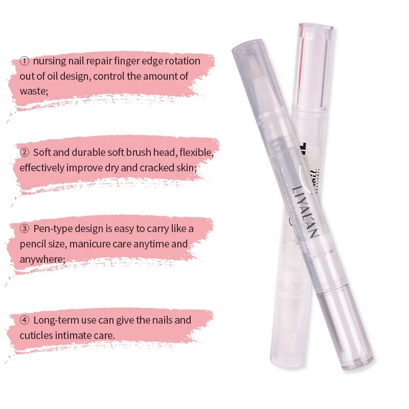 OEM Custom 6 Different Flavors Nail Cuticle Revitalizer Oil Pen Nail Art Care Cuticle Oil Pen