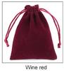 Wine red  12*15cm