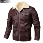 Men's Jacket Leather Men's Jacket PU Leather Jacket And Fleece For Slim Man Locomotive
