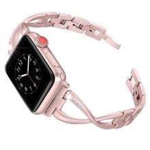 Подарочный браслет, аксессуары, регулируемый прочный с бриллиантом, прочный роскошный ремешок для часов, унисекс, износостойкость для IWatch(Китай)