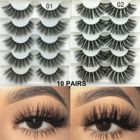 Eyelashes 3d Mink 20mm Eyelashes 5 Pair 18mm 20mm 25 Mm 3D Fluffy Dramatic Mink Eyelashes Wholesale Vendor With Lower Price