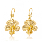99522 xuping jeweley cheap flower earrings with hoop,dubai 24k gold jewelry earrings