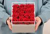 16 роз акриловой крышкой квадратная коробка