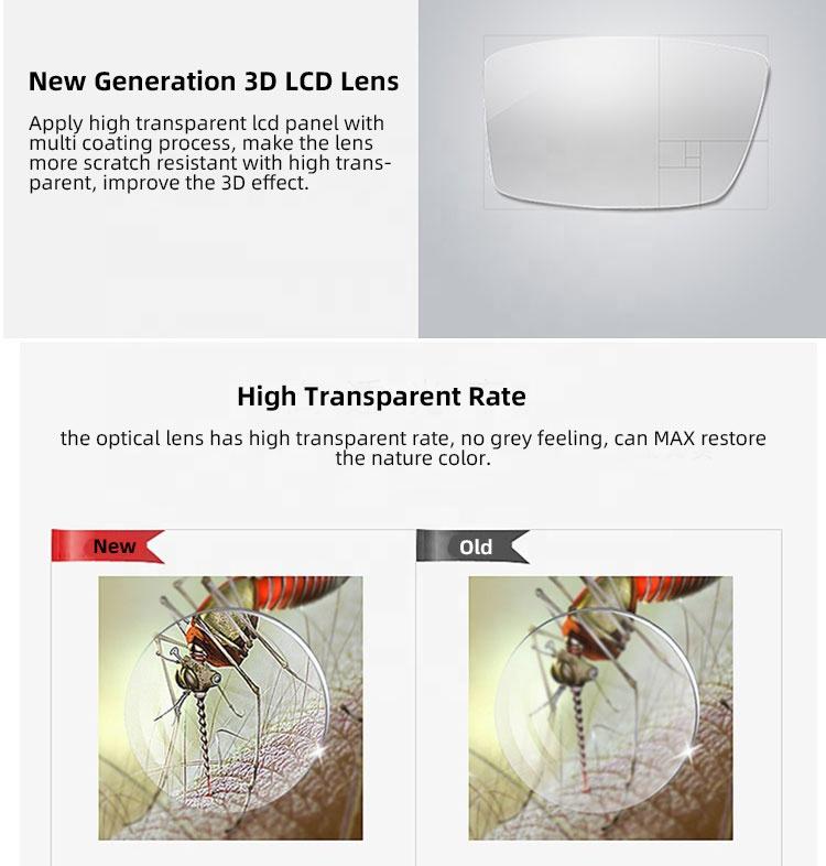 Universal DLP Link 3D Projector Active Shutter 3D Glasses / 3D Shutter Glasses for Vivitek/XGIMI/Yinzam Liquid Activated Glasses