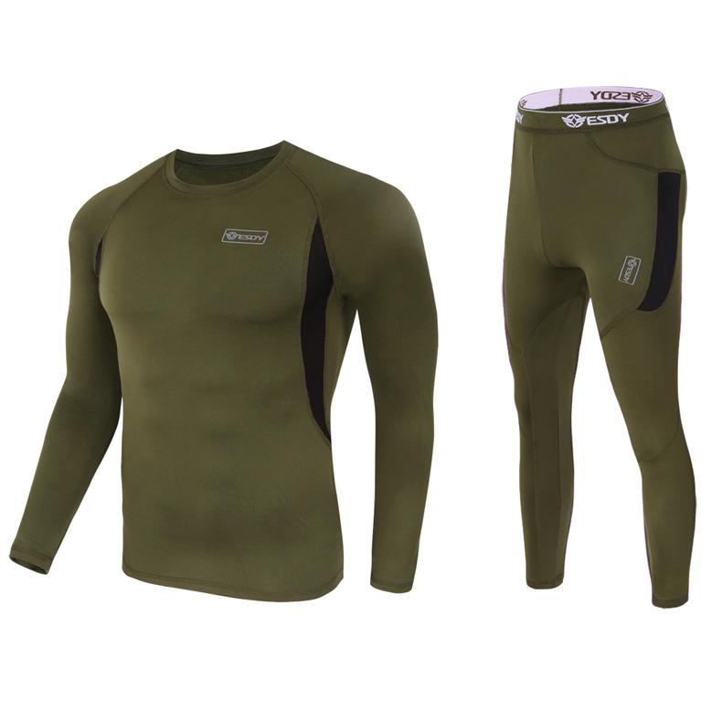 Soft comfortable outdoor sport fleece winter thermal underwear for men