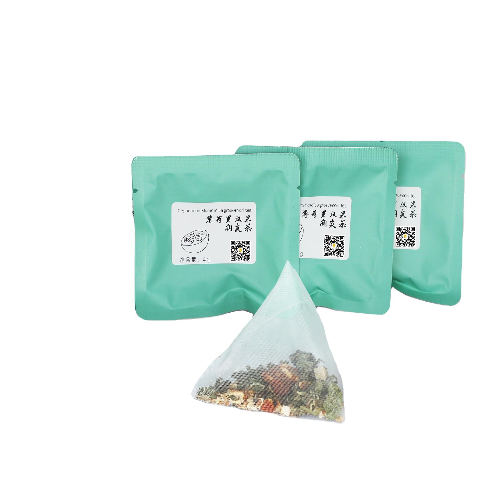Hot Popular Organic Detox Dried Flower Herbs Tea Momordica Grosvenori Mint Pericarpium Citri Reticulatae to Protect Your Throat - 4uTea   4uTea.com