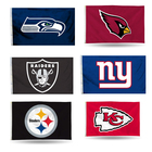 Nfl 100% Polyester Custom Wholesale All Design NFL Banner With Grommets Logo NFL Seattle Seahawks 3 X 5 Flag