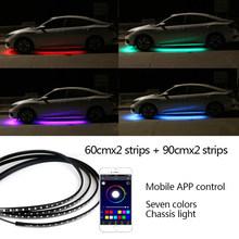 Под автомобильный светильник 12В Автомобильная гибкая система нижнего тела лампа универсальный авто подсвечник светильник s RGB светодиодны...(Китай)