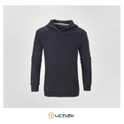 Print Sweatshirt Printedsweatshirt Letusi Grey Color Custom Print Blank Turn Down Collar Zip Up Sweatshirt