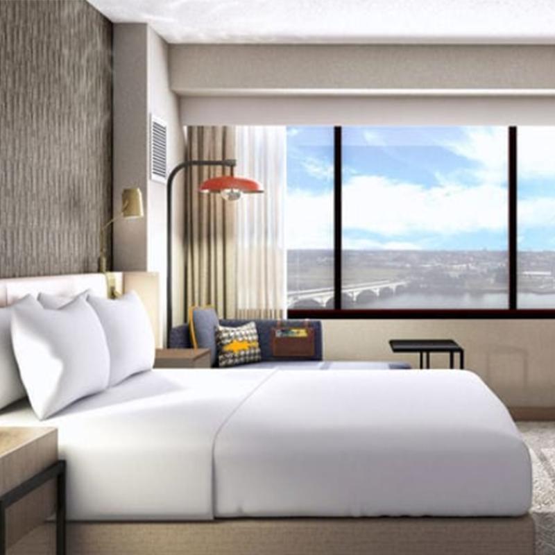 America bent pressed wood laminate furniture Marriott AC HOTEL furniture bed room