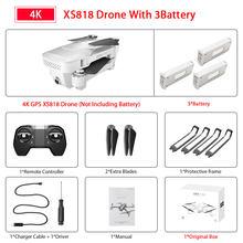 Visuo Xs818 Zen мини GPS Дрон с Wifi FPV 4K HD двойной камерой оптический поток RC Квадрокоптер Follow Me мини Дрон VS E520S SG907(Китай)
