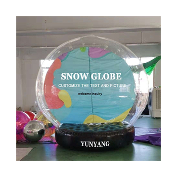 Custom 3m Inflatable santa snow globe outdoor inflatable snow globes