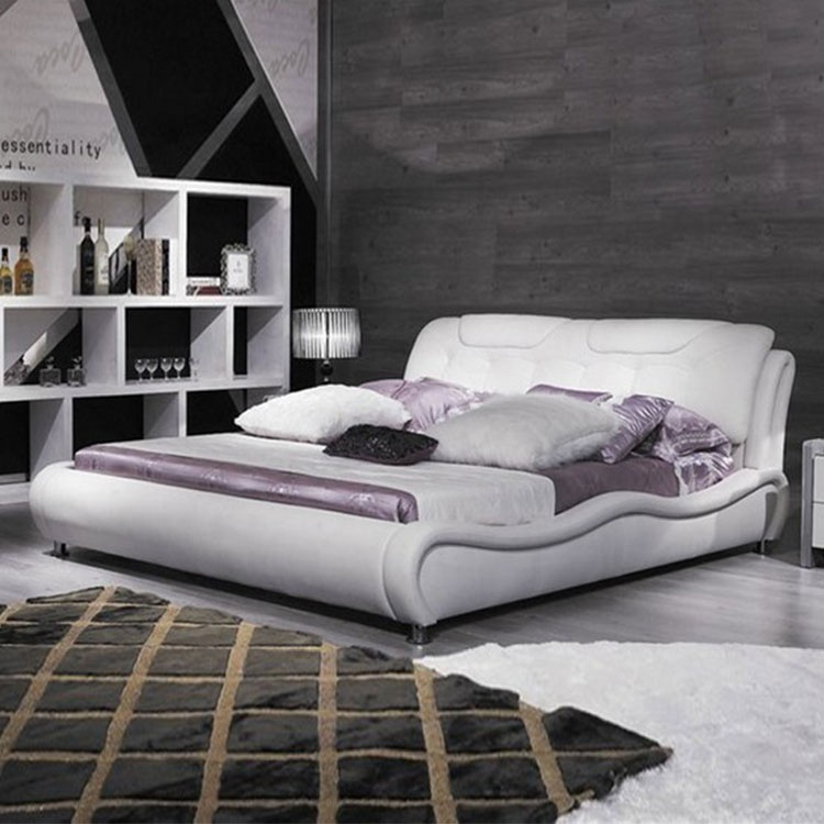 bed platform modern white colour platform bed king size simple luxury bedroom furniture bed farme and platforms