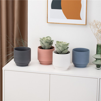 Novelty modern nordic color clay indoor outdoor wedding home decor succulent pots ceramic plant pot