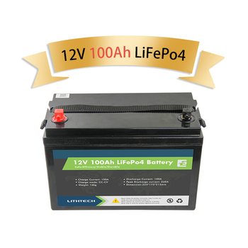Lithtech Lifepo4 BMS Lithium Battery Pack 12v 24V 48v 100ah 120ah 150ah 200ah 300ah Lifepo4 Lithium Ion Battery 12v