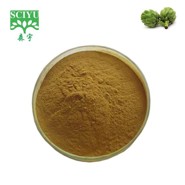 Порошок экстракта листьев артишока Cynara scolymus с 2.5% 5% УФ-цинарином