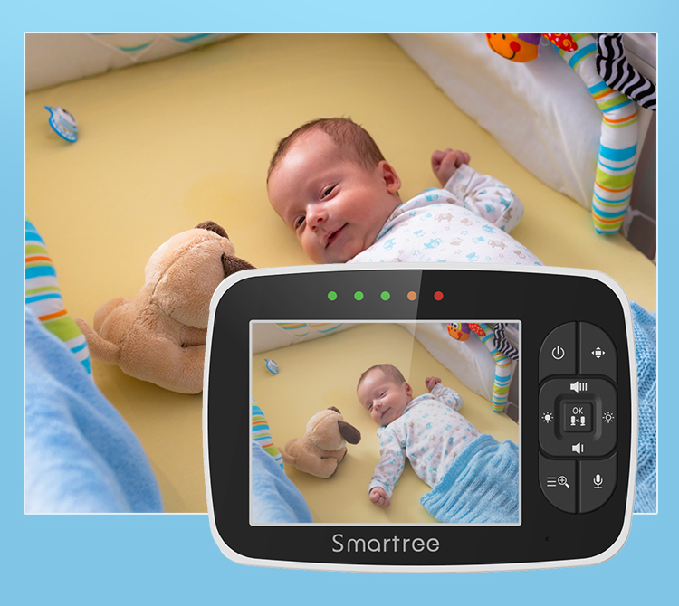 Amazon Hot Selling 3.5 Inch LCD  Baby Camera for Baby, Pet, Nanny with Video and Audio Night Vision  Infant Monitor