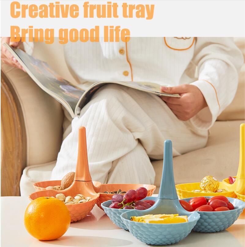 Креативная многослойная тарелка для фруктов в гостиную, домашний журнальный столик, поднос для конфет, настольная тарелка для закусок из сухих фруктов