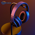 Fm Radio With Noise Cancelling Earphones TF Custom Made Logo Customise Earphone Blue Tooth FM Radio Active Noise Cancelling Game Wireless Headphones With Microphone