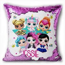 LOL сюрприз куклы для девочек конфетти наволочки с пайетками аниме крытый диван подушка с блестками наволочка подарок на день рождения Мода(Китай)