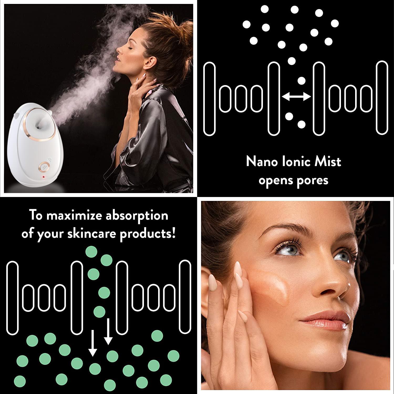 Professional Heating Home Face Portable Facial Steamer Nano for Skin Care