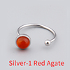 Silver-1 Red Agate-