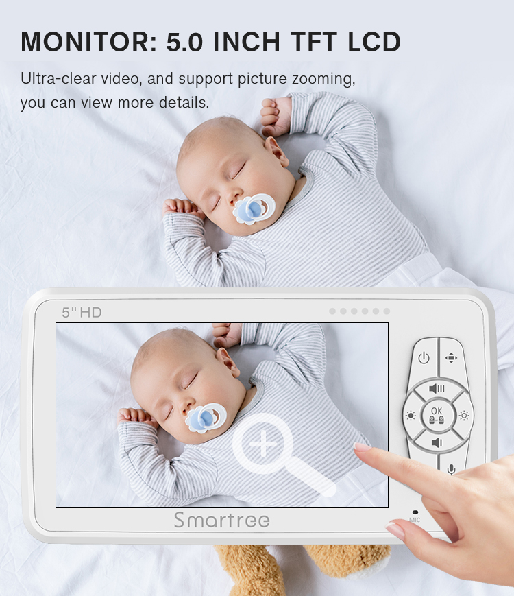 Temperature indoor security all in one children car night vision video camera audio baby monitor WiFi smartphone