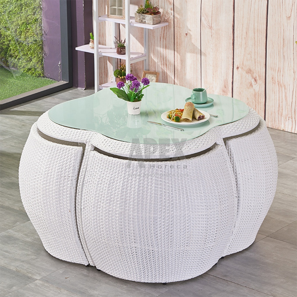 Стул из ротанга, кофейный столик для балкона, уличная мебель, садовый набор из ротанга, Плетеный