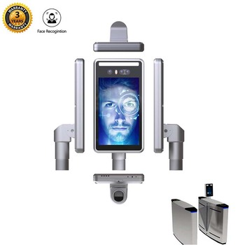 Free SDK http three camera face Detection and face Recognition Terminal for barrier gate