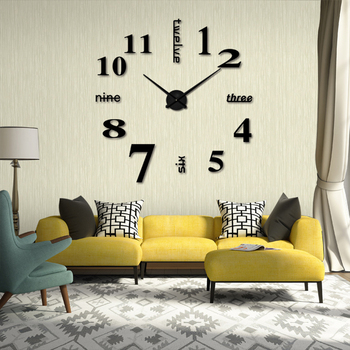 Wall Clock Sticker Sofa background Wall Clock DIY Family