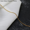 45cm 0.7mm gold bamboo chain