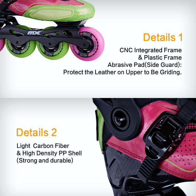 Пластиковый корпус с узором из углерода для фристайла, роликовых коньков S550