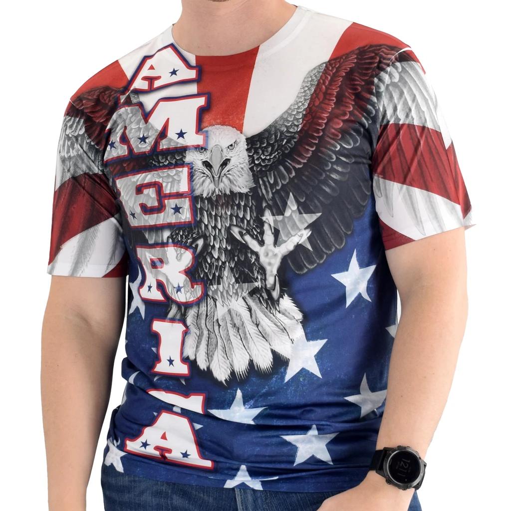 Оптовая продажа, футболка с сублимационным принтом 3d из хлопка, полиэстера, быстросохнущая Футболка с принтом на заказ