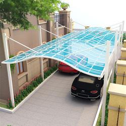 Garden Outdoor 2 Car Metal Arc-Carport  Aluminum Pergola Car Shelter Carport