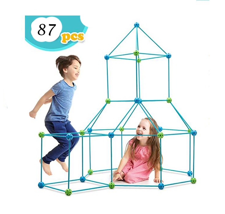 Amazon 87pcs Ultimate Crazy Construction Fort Building Kit Builder Gift DIY Making Toys without tent