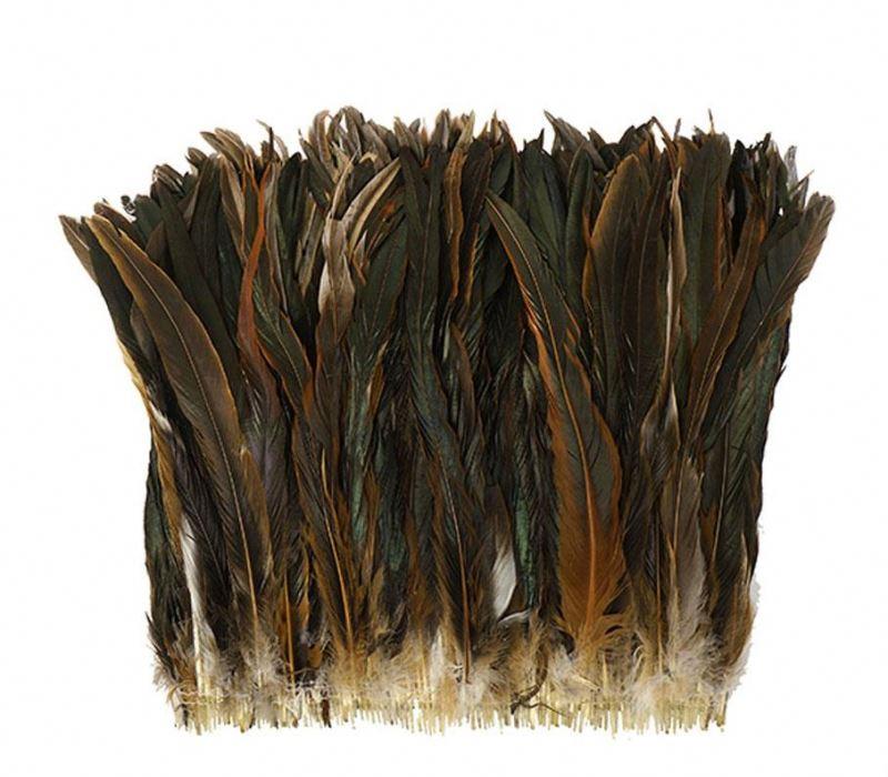 Оптовая продажа, краска, различные цвета, Длина 22 дюйма, половина бронзы, половина коричневого петуха, с хвостом, куриные перья, коктейль