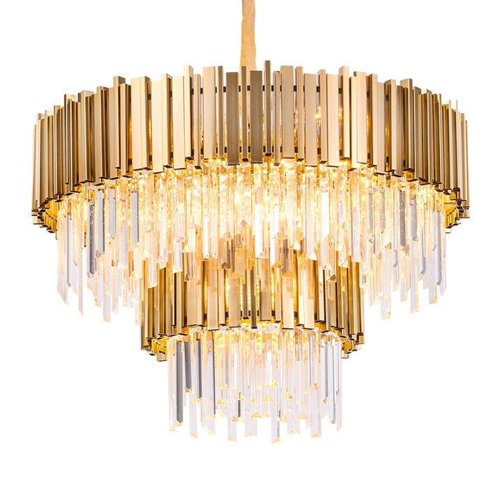 modern metal luxury big hotel lobby contemporary round gold parts k9 pendant crystal chandelier