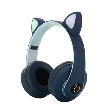 handfree cat ear bluetooth wireless headset handsfree led surround headphone hot sale earphone with mic